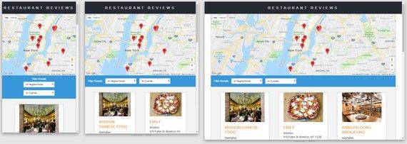 Restaurant App Layout 1