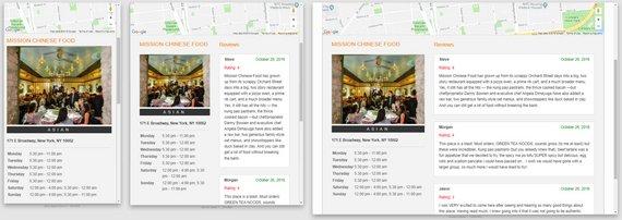 Restaurant App Layout 2