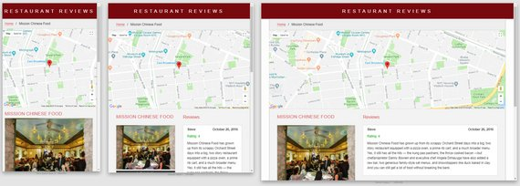 New look for Restaurant App detail page