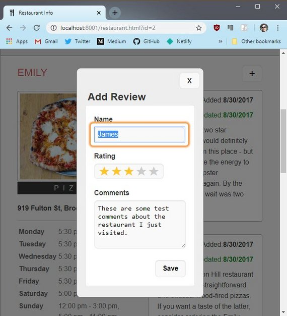 Add Review Form